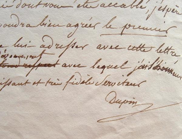 Dupin aîné défenseur de l'Eglise gallicane auprès de Louis-Philippe.. André Dupin (aîné) (1783-1865) Homme politique et avocat, président de la ...