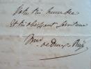 Dreux-Brézé adresse une requête au maréchal Clausel.. Scipion Dreux-Brézé (marquis de) (1793-1845) Fils d'Henri-Evrard, défenseur de la cause ...