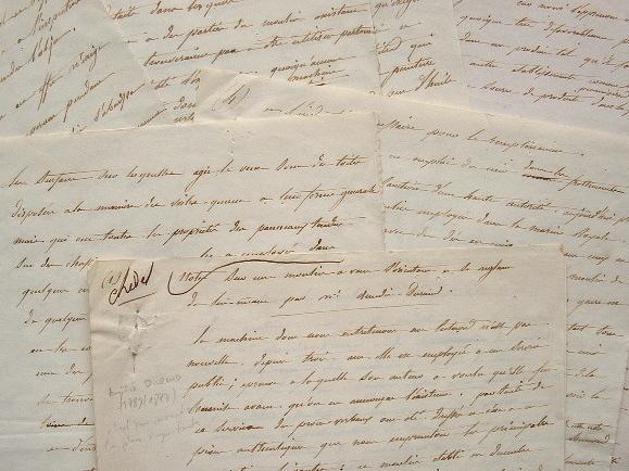 Rapport manuscrit sur les moulins à vent d'Amédé Durand.. Amédée Durand (1789-1873) Inventeur, entre autres, de nombreuses machines agricoles.