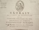 Pièce signée par les membres de la Commission temporaire des Arts.. Pierre Charles Levesque (1736-1812) Helléniste et historien, professeur au Collège ...
