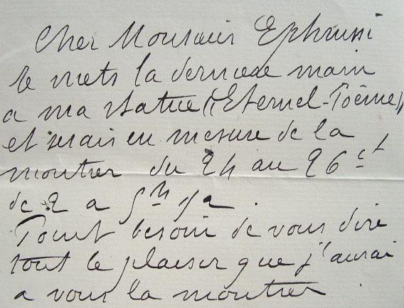 Antonin Carlès invite Charles Ephrussi à voir sa dernière statue.. Antonin Carlès (1851-1919) Sculpteur. Elève de François Jouffroy et Ernest-Eugène ...