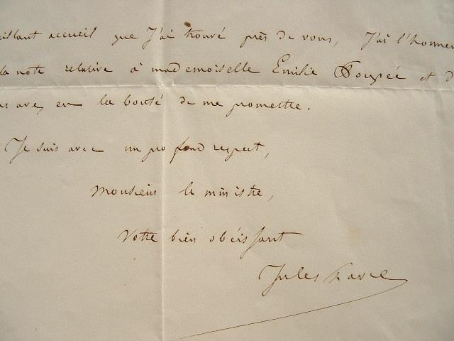 Jules Favre s'en remet au ministre.. Jules Favre (1809-1880) Ardent républicain, opposant de l'Empire. Secrétaire général du ministère de l'Intérieur, ...
