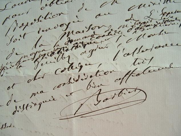 Barbier achète un curieux manuscrit pour la bibliothèque du Louvre.. Louis Nicolas Barbier (1799-1888) Bibliographe, bibliothécaire au Louvre.