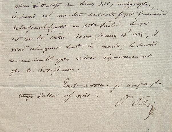 Paulin Paris négocie un précieux manuscrit de Louis XIV.. Paulin Paris (1800-1881) Erudit, historien français de la littérature, spécialiste de ...