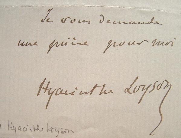 Le père Hyacinthe Loyson prédicateur.. Charles dit père Hyacinthe Loyson (1827-1912) Prédicateur.