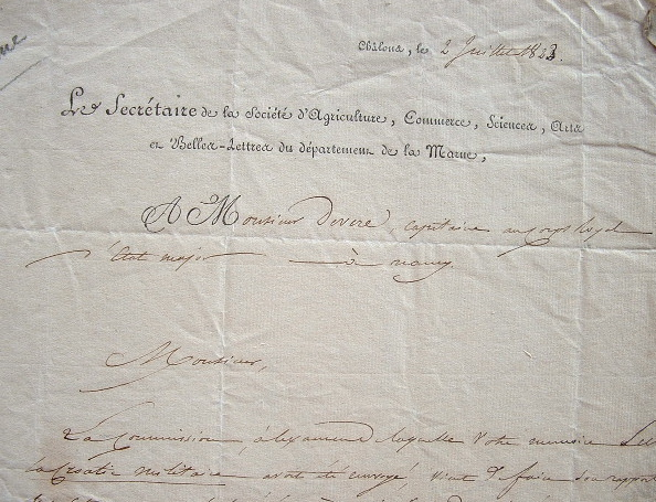 La Société des Belles-lettres de la Marne transmet ses félicitations..
