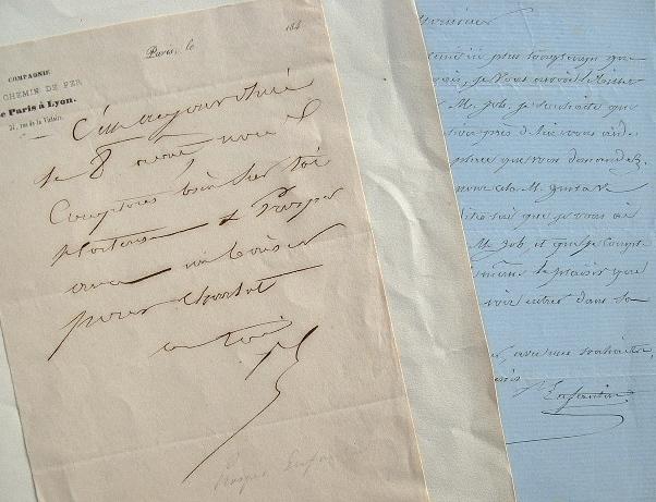 Deux lettres de Prosper Enfantin.. Prosper Enfantin (1796-1864) Philanthrope utopiste, chef de file de l'école saint-simonienne, il fonda une ...