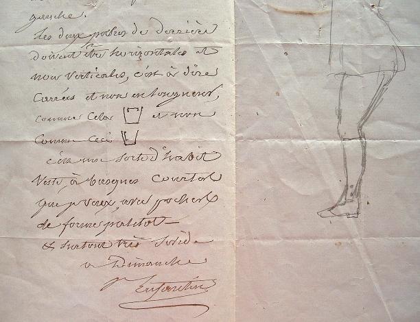 Prosper Enfantin se fait tailler une veste de chasse.. Prosper Enfantin (1796-1864) Philanthrope utopiste, chef de file de l'école saint-simonienne, ...
