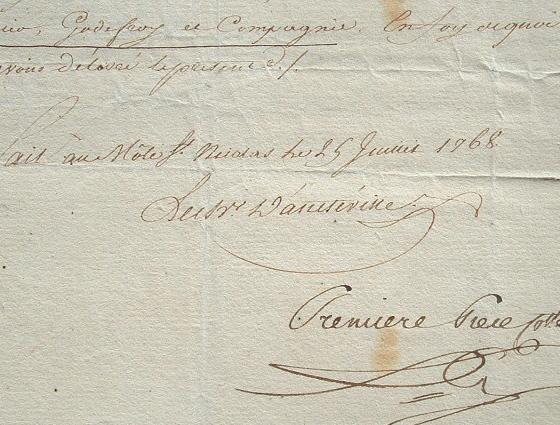 Le chevalier d'Ancteville, commandant à Saint-Domingue.. Louis Cantel Ancteville (chevalier d') (1738-1785) Ingénieur militaire à Saint-Domingue, ...
