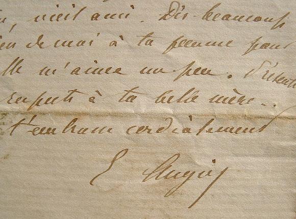 Emile Augier au sujet de l'Académie Française. 1864. Emile Augier (1820-1889) Poète et dramaturge, il connaît de grands succès au théâtre. Il est élu ...