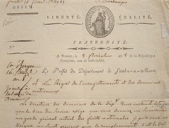 Le préfet de Sambre-et-Meuse donne ses instructions.. Emmanuel Pérès de La Gesse (1752-1833) Député aux Etats généraux et à la Convention ...