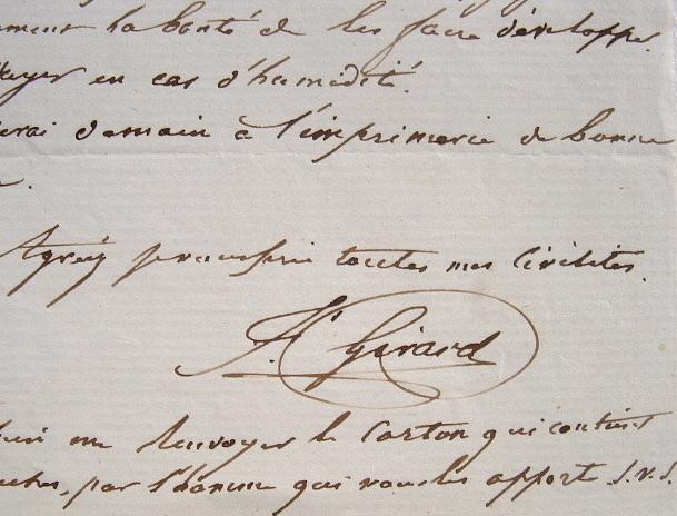 Le graveur François Girard fait tirer ses planches.. Alexis François Girard (1787-1870) Graveur.