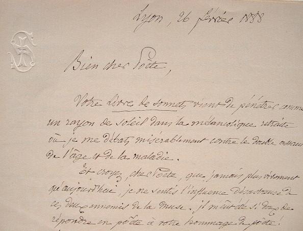 Joséphin Soulary, frère poète de Claudius Popelin.. Joséphin Soulary (1815-1891) Poète lyonnais.