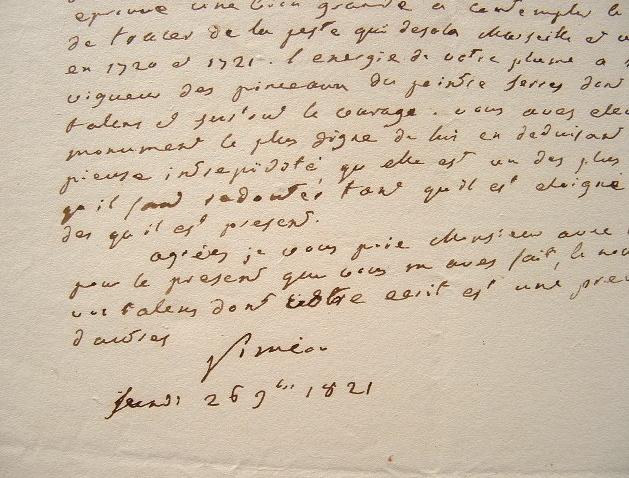 Siméon admire la plume de Lemontey sur la peste de Marseille.. Joseph Jérôme Siméon (comte) (1749-1842) Homme politique et juriste, ministre de ...