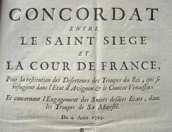 Concordat entre le Saint-siège et la Cour de France..