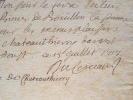 Les frais des Menus plaisirs du duc de Chateau-Thierry.. Jean Antoine Du Cerceau (1670-1730) Ecrivain et bibliothécaire, précepteur du duc de ...
