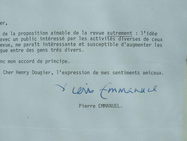 Pierre Emmanuel favorable au dialogue.. Pierre Emmanuel (1916-1984) Poète et académicien.