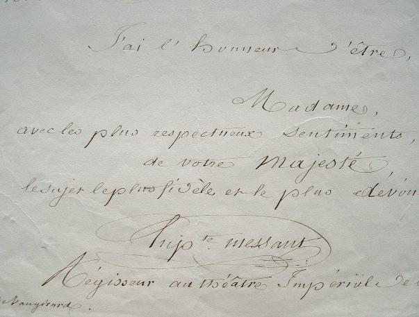 Le comédien Hippolyte Messant invite l'impératrice Eugénie..