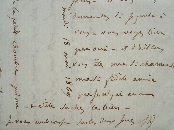 Belle lettre Jules Favre sur son opposition au sein du parti républicain.. Jules Favre (1809-1880) Ardent républicain, opposant de l'Empire. ...