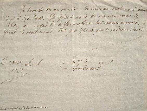 Le feld-maréchal de Frédéric le grand étudie un mouvement de troupes.. Ferdinand Brunswick-Lunebourg (von) (1721-1782) Feld-maréchal prussien de ...