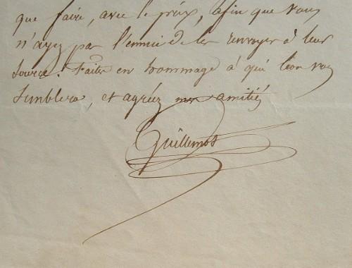 Correspondance du co-fondateur du Siècle, Guillemot.. Gilbert Marie Hercule Guillemot (1799-1874) Journaliste, co-fondateur du Siècle, journal dont il ...