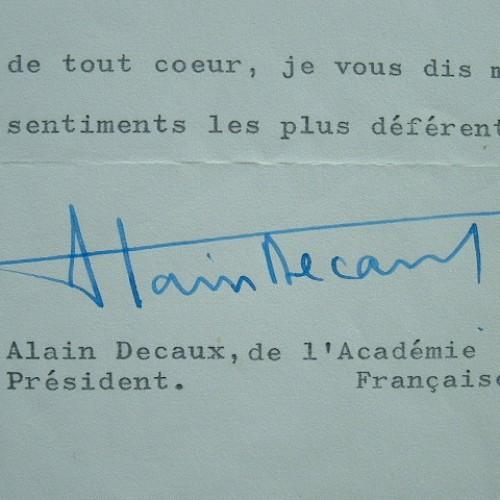 Alain Decaux s'engage pour la restauration du château de Monte-Cristo.. Alain Decaux (1925-0) Historien, de l'Académie française.