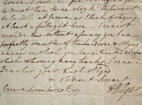 Le vicomte de Clifden, Henry Welbore Agar Ellis, en séjour à Genève.. Henry Welbore Agar-Ellis (1761-1836) 2e vicomte de Clifden (Irlande) et 2e baron ...