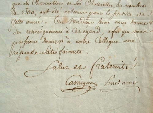 Cavaignac et Pinet, conventionnels en mission dans les Pyrénées.. Jacques Pinet (1754-1844) Conventionnel montagnard régicide (Dordogne).Jean Baptiste ...
