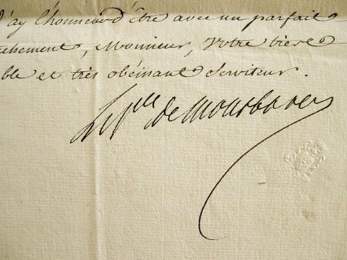 Le prince de Montbarrey promeut un officier, sous condition.. Alexandre Marie Léonor de Saint-Mauris Montbarrey (prince de) (1732-1796) Officier et ...