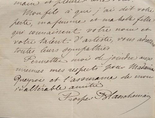 Prosper Blanchemain compatissant.. Prosper Blanchemain (1816-1879) Poète, bibliographe et bibliophile.