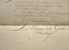 Le duc de Feltre nomme un ingénieur géographe de la Grande armée.. Henri Jacques Guillaume Clarke (comte d'Hunebourg, duc de Feltre) (1765-1818) ...