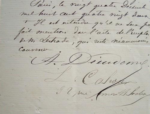 Contrat pour la création d'un cercle de jeux.. Alphonse Dieudonn? (1836-1922) Comédien du Vaudeville.
