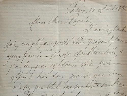 Amusante critique de Charles Desmazes.. Charles Desmazes (1820-1900) Magistrat et écrivain, auteur d'ouvrages sur la Picardie.