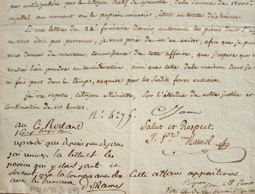 Le ministre de la Justice Ramel de Nogaret donne sa réponse.. Dominique Vincent Ramel de Nogaret (1769-1829) Ministre de Finances (février 1796 à ...