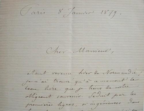 Le peintre émailleur Charles Lepec fait part de son plaisir.. Charles Lepec (1830-0) Peintre d'émaux.