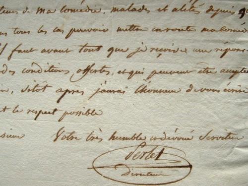 Perlet, directeur du Grand théâtre de Lyon, veut promouvoir son spectacle.. Pierre Etienne Perlet (1754-1817) Peintre et acteur, directeur du grand ...