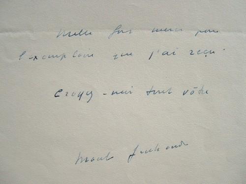 Mille mercis de Marcel Jouhandeau.. Marcel Jouhandeau (1888-1979) Ecrivain, auteur de Chaminadour.
