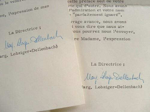 Lettres de l'ethnologue suisse Marguerite Lobsiger-Dellenbach.. Marguerite Lobsiger-Dellenbach (1905-1993) Ethnologue, spécialiste de la culture kanak ...