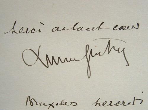 De Bruxelles, Lucien Guitry adresse ses remerciements.. Lucien Guitry (1860-1925) Le plus grand comédien de son époque, père de Sacha Guitry.