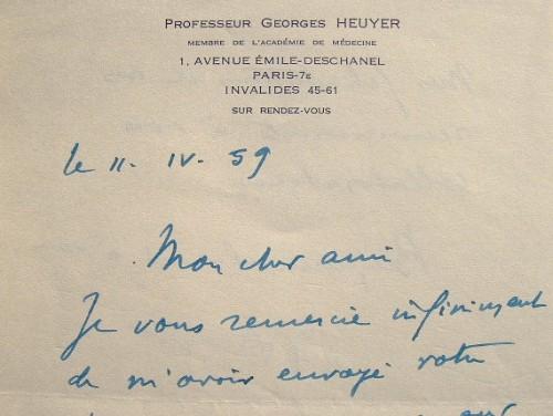 Le pédopsychiatre Georges Heuyer passionné par la maladie de Wilson.. Georges Heuyer (1884-1977) Psychiatre, fondateur de la pédopsychiatrie et l'un ...