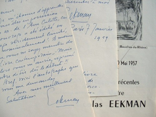 Le peintre expressionniste Nicolas Eekman s'interroge.. Nicolas Mathieu Eekman (1889-1973) Peintre surréaliste puis expressionniste belge.