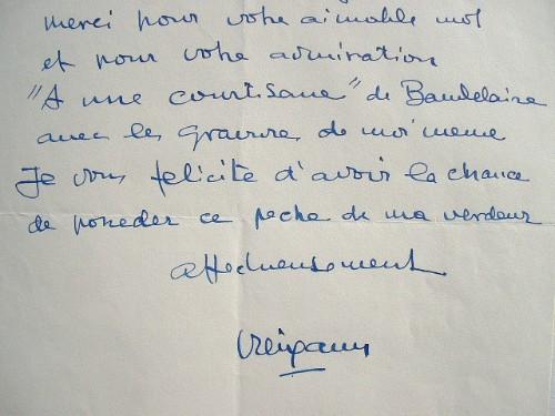Pedro Creixams, illustrateur de Baudelaire.. Pedro Creixams (1893-1965) Peintre espagnol de l'Ecole de Paris.