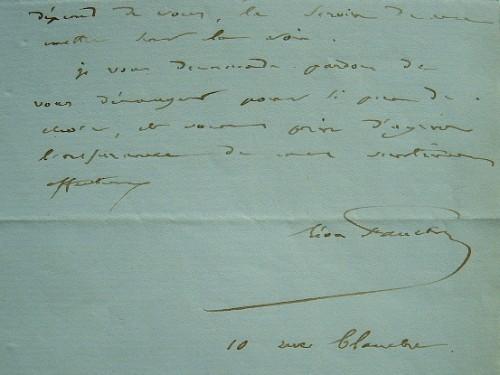Léon Faucher se renseigne sur les propriétaires du château de Luciennes.. Léon Faucher (1803-1854) Economiste et homme politique, ministre de ...