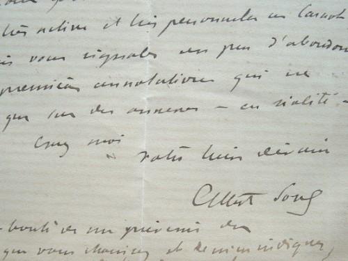 Albert Sorel contrarié par l'abondance de notes sur Carnot.. Albert Sorel (1842-1906) Historien, membre de l'Académie française (1894) ; il est l'un ...