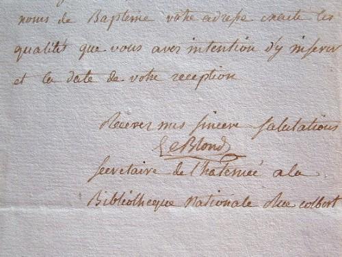 Lettre de l'inventeur du mètre, le mathématicien Auguste Savinien Leblond.. Auguste Savinien Leblond (1760-1811) Mathématicien ; le 12 mai 1790, il ...