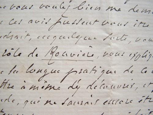 Les conseils de Régnier pour le rôle de Rouvière.. François Régnier de La Brière (1807-1885) Comédien, sociétaire (1835) puis régisseur général de la ...
