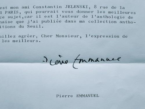 Pierre Emmanuel juge la poésie de Jean-Paul II.. Pierre Emmanuel (1916-1984) Poète et académicien.