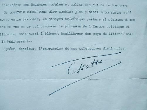 Le président grec Konstantinos Tsâtsos donne sa vision de l'Europe.. Kontantinos Tsâtsos (1899-1987) Philosophe, jusriste et poète grec, président de ...