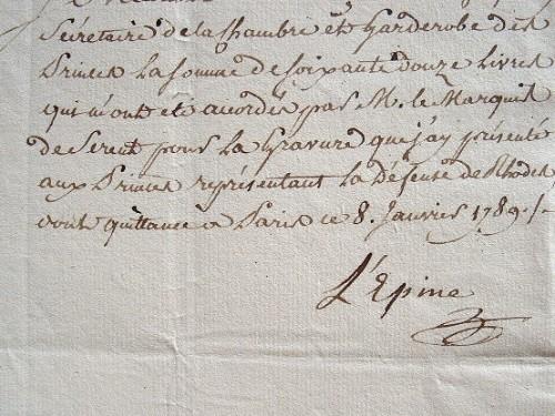 Le graveur Lépine vend la Défense de Rhodes..