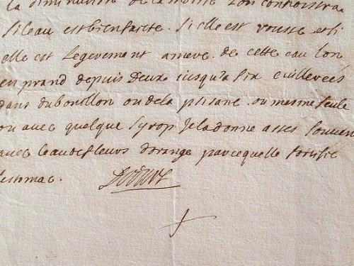 Dodart, le premier médecin du roi, délivre la recette de l'eau de Pavot.. Claude Jean Baptiste Dodart (1664-1730) Premier médecin du duc d'Orléans ...